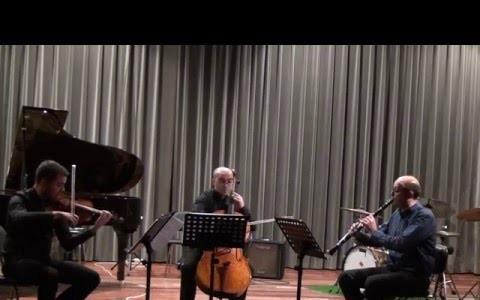 Trio para clarinete, violino e violoncelo, Victor Pereira - clarinete, Filipe Quaresma - violoncelo, José Pereira -Violino
